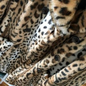 Guess Jackets & Coats - Guess Faux Fur Leopard Coat